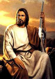 jesus and gun picture