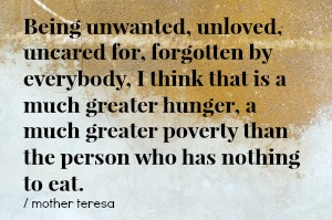 mother teresa poverty