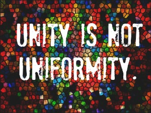 unity is not uniformity