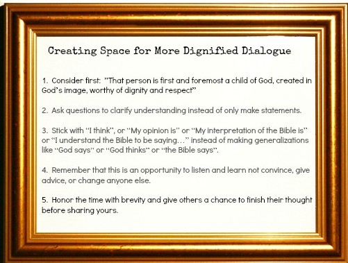 creating space for more dignified dialogue