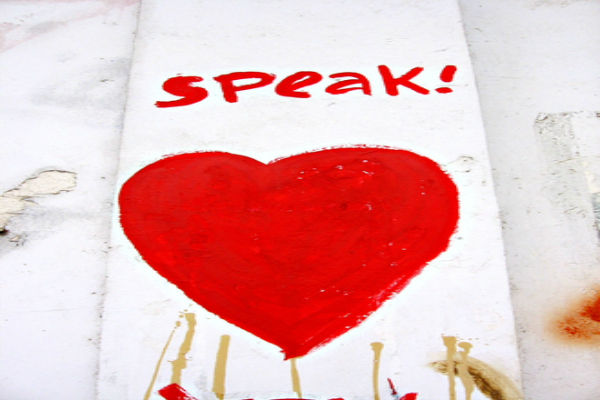 speak love say something